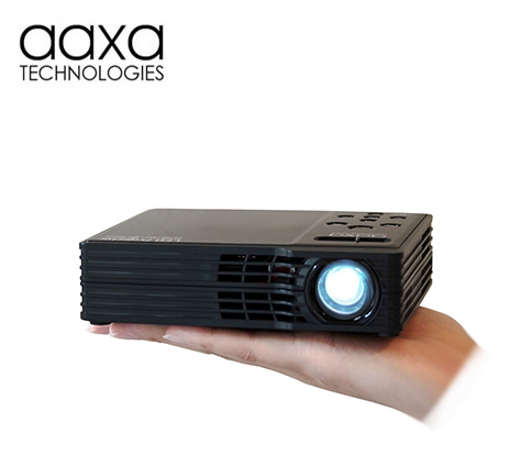 Aaxa reveals a new high resolution pico projector led for Highest lumen pocket projector