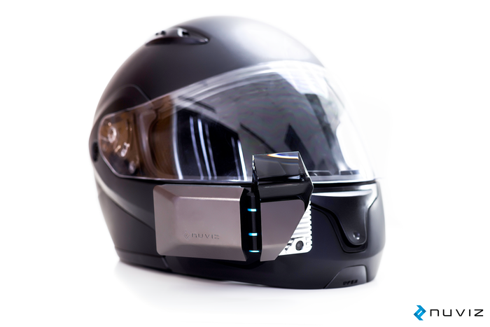 Nuviz Hud Heads Up Display For Motorcycle Helmets Led